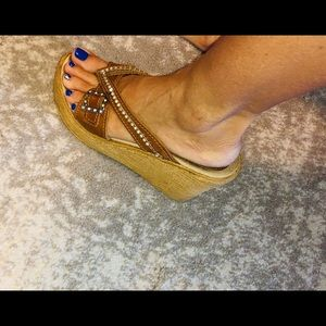 Shoes - SBICCA leather wedges size 7